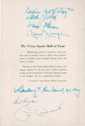 Autographs:Others, 1957 Texas Sports Hall of Fame Signed Program....