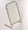 Furniture : French, LOUIS SOGNOT. A Nickel Dressing Mirror, circa 1930. 21-1/2 x 14-1/2x 10 inches (54.6 x 36.8 x 25.4 cm). ...