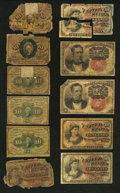 Fractional Currency:Second Issue, 10c Fractional Notes Fair or Better.... (Total: 11 notes)