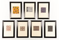 Fine Art - Work on Paper:Drawing, BIANCHINI FERRIER. A Set of Seven Fabric Designs, circa 1930-1940.22 x 15-1/2 inches (55.9 x 39.4 cm) each. ...
