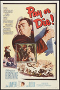 """Movie Posters:Crime, Pay or Die (Allied Artists, 1960). One Sheet (27"""" X 41"""") and LobbyCard Set of 8 (11"""" X 14""""). Crime.. ... (Total: 9 Items)"""
