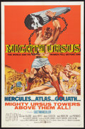 """Movie Posters:Action, Mighty Ursus (United Artists, 1962). One Sheet (27"""" X 41"""") andLobby Cards (7) (11"""" X 14""""). Action.. ... (Total: 8 Items)"""