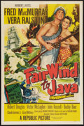 """Movie Posters:Adventure, Fair Wind to Java (Republic, 1953). One Sheet (27"""" X 41"""") and LobbyCard Set of 8 (11"""" x 14""""). Adventure.. ... (Total: 9 Items)"""