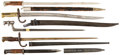 Military & Patriotic:WWI, Lot of Five European Bayonets... (Total: 5 Items)