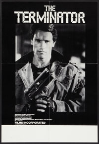 """The Terminator (Films Incorporated, 1985). College Poster (17"""" X 25""""). Science Fiction"""