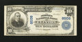 National Bank Notes:Missouri, Clinton, MO - $10 1902 Plain Back Fr. 626 The Peoples NB Ch. #8509. ...