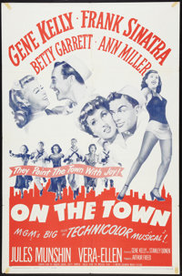 """On the Town (MGM, R-1962). One Sheet (27"""" X 41""""). Musical"""