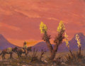 Texas:Early Texas Art - Regionalists, PROPERTY OF C. HOPPE. GILBERT FRANZ NEUMANN (American, 1906-1970).Arizona Cactus. Oil on board. 7 x 9 inches (17.8 x ...