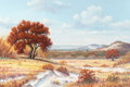Texas:Early Texas Art - Regionalists, J. W. THRASHER (American, b. 1940). Autumn Landscape. Oil oncanvas. 24 x 36 inches (61.0 x 91.4 cm). Signed lower righ...