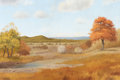Texas:Early Texas Art - Regionalists, HUGO ALBERTO HERBECK (American, 1923-2009). AutumnLandscape. Oil on canvas. 28 x 42-1/4 inches (71.1 x 107.3 cm).Signe...