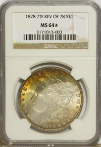 1878 7TF $1 Reverse of 1878 MS64 ★ NGC. NGC Census: (3108/465). PCGS Population (2255/470). Mintage: 4,900,000. Numism...