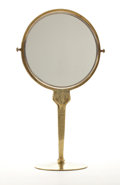 Decorative Arts, French, R. LALIQUE. A Rare Silvered Bronze Mirror with Caryatid Stem, circa1912. 19-1/2 inches (49.5 cm) high. ...