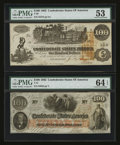 Confederate Notes:Group Lots, Mixed Lot of Confederate Notes. Two Examples.. ... (Total: 2 notes)