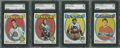 Hockey Cards:Lots, 1971 Topps Hockey SGC 96 Mint Lot of 4.... (Total: 4 card)