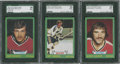 Hockey Cards:Lots, 1973 O-Pee-Chee Hockey SGC 96 Mint 9 Lot of 3.... (Total: 3 card)