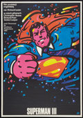 """Movie Posters:Action, Superman III (Warner Brothers, 1983). Polish B1(26.5"""" X 38"""").Action.. ..."""