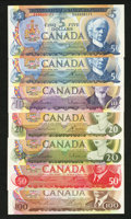 Canadian Currency: , Serial Number 171 Set Gem Crisp Uncirculated. ... (Total: 7 notes)