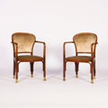 Furniture : Continental, KOLOMAN MOSER. A Pair of Bentwood Armchairs, circa 1900-1905. 35 x23 x 25 inches (88.9 x 58.4 x 63.5 cm) each. ... (Total: 2 Items)