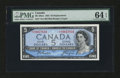 Canadian Currency: , BC-39aA $5 1954 Modified Portrait. ...