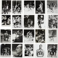 Basketball Collectibles:Photos, 1960's-1970's Significant Original Basketball Press Photo Lot of380+....