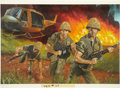 Original Comic Art:Covers, Daniel Crouse Vietnam Ground Zero (#25): Warlord PaperbackCover Original Art (Gold Eagle, 1990)....