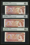 Canadian Currency: , Three $2 1974 Replacements PMG Graded. ... (Total: 3 notes)