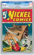 Golden Age (1938-1955):Superhero, Nickel Comics #1 Mile High pedigree (Fawcett, 1940) CGC NM 9.4 Off-white to white pages....