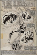 Memorabilia:Miscellaneous, John Romita Jr. and Jim Mooney The Amazing Spider-Man #230 Splash page 1 Production Art (Marvel, 1982)....
