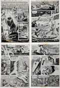 """Original Comic Art:Complete Story, Jack Sparling House of Mystery #205 Complete 10-page Story""""The Coffin Creature"""" Original Art (DC, 1972).... (Total: 10 Items)"""