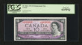 Canadian Currency: , BC-40bA $10 1954 Modified Portrait *A/D Prefix. ...