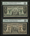 Canadian Currency: , Montreal, PQ- Banque Canadienne Nationale $5 Feb. 1, 1925 Ch. 85-10-02. Montreal, PQ- Banque Canadienne Nationale $10 Fe... (Total: 2 notes)