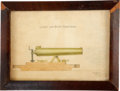Military & Patriotic:Civil War, Civil War: Drawing of a Light Twelve Pound Dahlgren Boat Howitzer by Ulric Dahlgren, Son of the Gun's Inventor and Author of t...