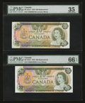 Canadian Currency: , Two $20 1979 Replacements PMG Graded.. ... (Total: 2 notes)