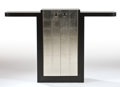 Furniture : French, JULES BOUY. A Silvered and Lacquered Wood Sideboard, circa 1935.29-1/2 x 62 x 13 inches (74.9 x 157.5 x 33.0 cm). ...