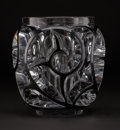 """Art Glass:Lalique, LALIQUE. """"Tourbillons"""" A Limited Edition Glass Vase with blackenamel, modern. Ed. 35/999. Marks: engraved Lalique ®Franc..."""