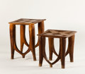 African, TWO NUPE TABLES. Nigeria. 21 x 17 inches (53.3 x 43.2 cm) taller. ...