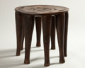 African, TWO NUPE STOOLS. Nigeria. 18 x 20 inches (45.7 x 50.8 cm) larger. ...