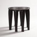 African, TWO NUPE STOOLS. Nigeria. 16-1/2 x 18 inches (41.9 x 45.7 cm) larger. ...