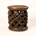 African, FOUR AFRICAN STOOLS. Cameroon. 16 x 14-1/2 inches (40.6 x 36.8 cm)largest. ...