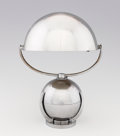 "Decorative Arts, French:Lamps & Lighting, FÉLIX AUBLET. A Nickel Plated Metal ""Boule"" or ""Mobile"" Lamp, circa1930. 11-7/8 inches (30.0 cm) high. ..."