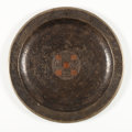 Decorative Arts, French:Other , CLAUDE LINNOSSIER. A Dinanderie Plateau, circa 1930. Marks:stamped. 15-3/4 inches (40.0 cm) diameter. ...
