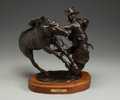 Sculpture, SKIP GLOMB (American, 1935-1988). No Free Rides, 1981. Bronze. 15 x 16 x 19 inches (38.1 x 40.6 x 48.3 cm) (with base). ...