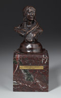 Sculpture, CHARLES MARION RUSSELL (American, 1864-1926). Piegan Squaw. Bronze. 7 x 5 x 3-1/2 inches (17.8 x 12.7 x 8.9 cm). 5 3/4 x...