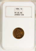 Proof Indian Cents: , 1894 1C PR64 Red and Brown NGC. PCGS Population (121/19). Mintage: 2,632. Numismedia Wsl. Price for prob...