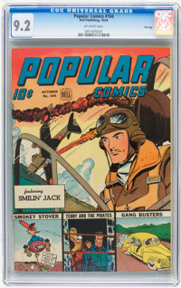 Popular Comics #104 File Copy (Dell, 1944) CGC NM- 9.2 Off-white pages