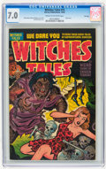 Golden Age (1938-1955):Horror, Witches Tales #15 File Copy (Harvey, 1952) CGC FN/VF 7.0 Cream tooff-white pages....