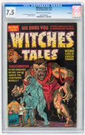 Golden Age (1938-1955):Horror, Witches Tales #14 File Copy (Harvey, 1952) CGC VF- 7.5 Cream tooff-white pages....