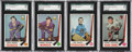 Hockey Cards:Lots, 1969 O-Pee-Chee Hockey SGC 96 Mint 9 Lot of 4.... (Total: 4 cards)