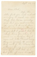 "Autographs:Celebrities, John Dillinger Autograph Letter Signed ""Johnnie"" to his Father from Prison in Lima, Ohio. ..."