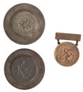 Military & Patriotic:WWI, Original Dies for the American Red Cross First Aid Service MedalIncluding an Un-awarded Example of the Medal.... (Total: 3 Items)